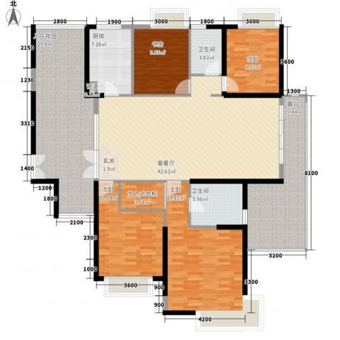 江南一品4室1厅2卫1厨217.00㎡户型图