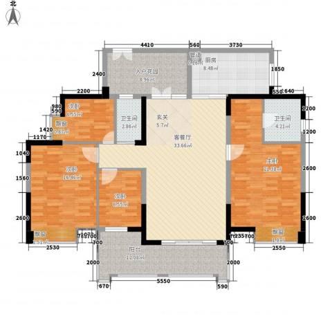 卓越东部蔚蓝海岸别墅4室1厅2卫1厨171.00㎡户型图