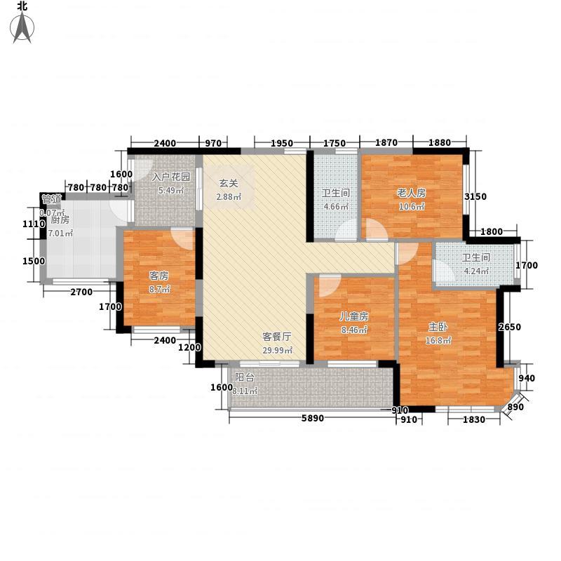 辉和・和畅国际118.35㎡2号楼DE户型4室2厅2卫1厨