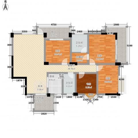 五洲康城4室1厅2卫1厨188.00㎡户型图