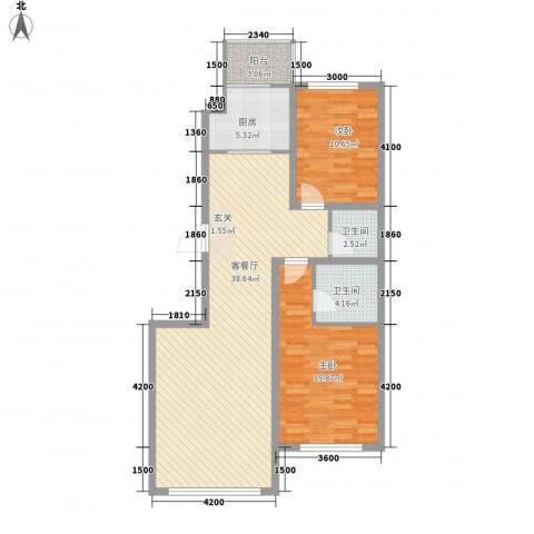 中华巴洛克2室1厅2卫1厨113.00㎡户型图