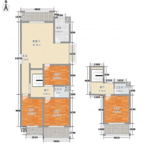 泰和・水岸嘉园4室3厅2卫1厨207.00㎡户型图