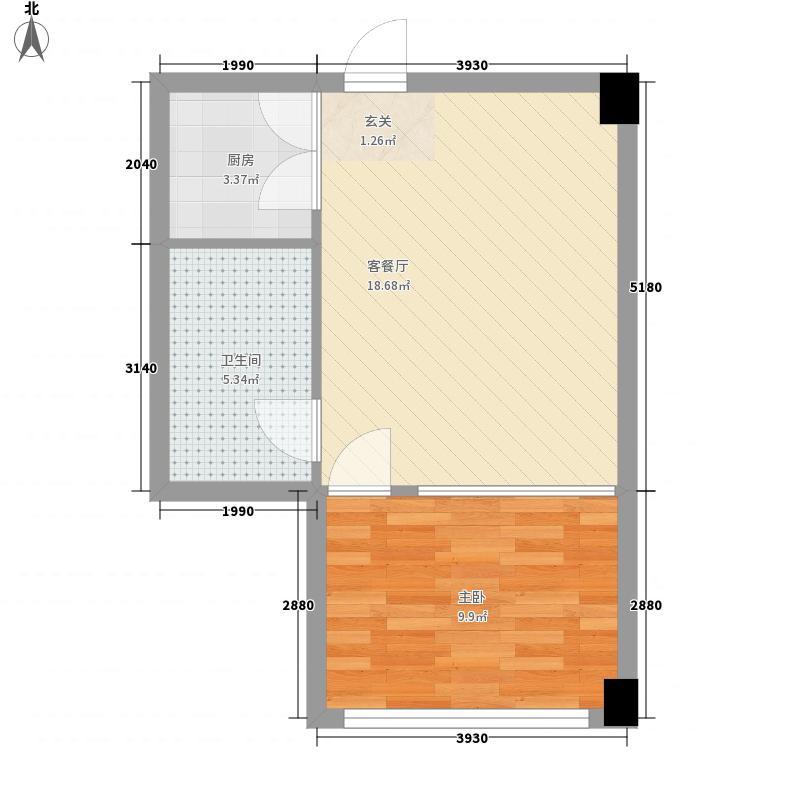 清真美食文化城123户型1室1厅1卫1厨