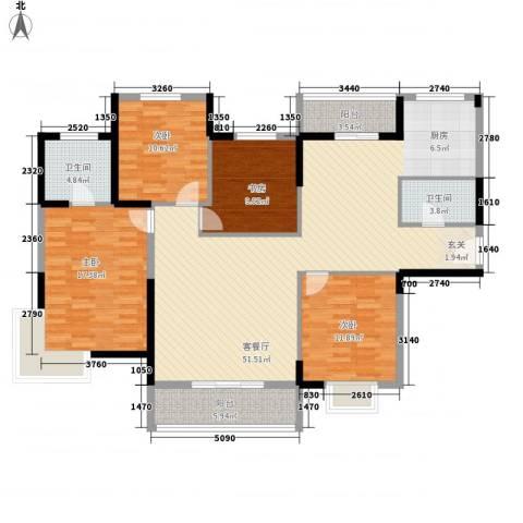 在水一方4室1厅2卫0厨168.00㎡户型图