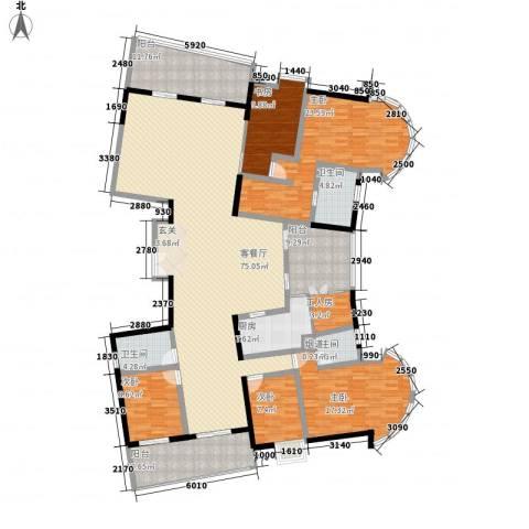 丽湖山庄5室1厅3卫1厨280.00㎡户型图