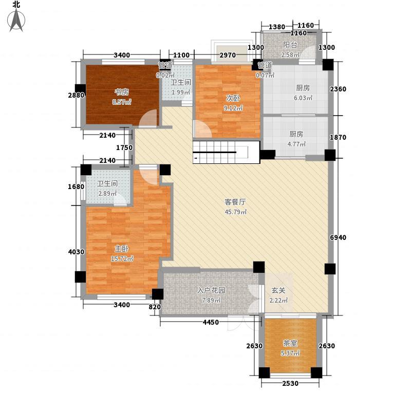 融�红郡123.00㎡融�红郡4室户型4室