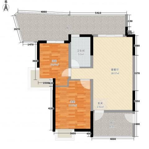 梅江南苑2室1厅1卫0厨124.00㎡户型图