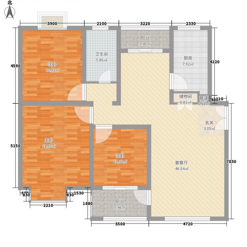 中孚紫东苑168.00㎡面积16800m户型