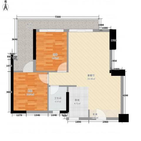第一国际2室1厅1卫0厨96.00㎡户型图