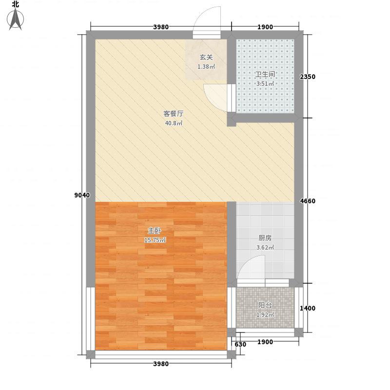 盛德世纪家园二期高层1#2#号楼标准层F户型