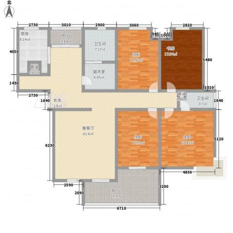 银屏花园4室1厅2卫1厨260.00㎡户型图