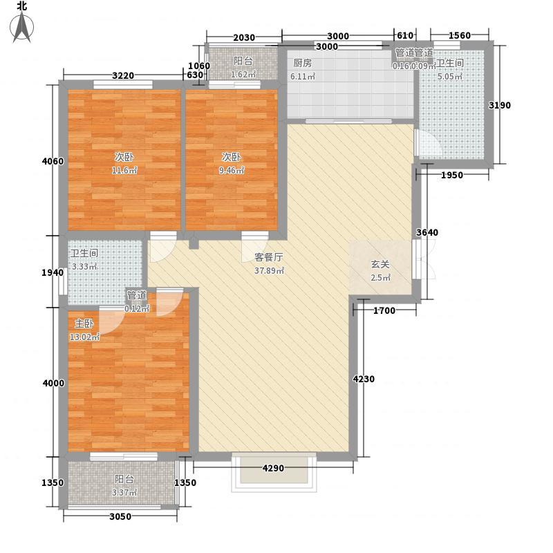 紫薇大厦130.00㎡紫薇大厦户型图3室2厅2卫户型3室2厅2卫