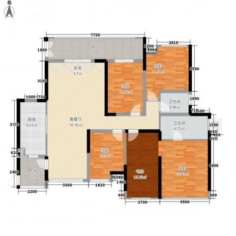 金地博登湖4室1厅2卫1厨194.00㎡户型图