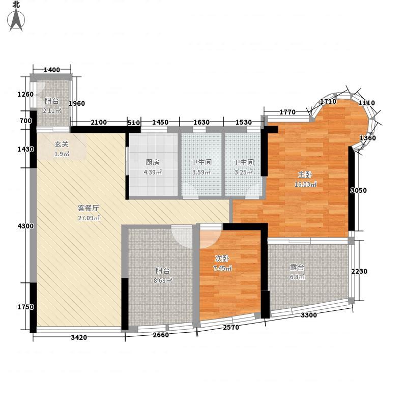 景园114.00㎡深圳景园户型图57户型10室