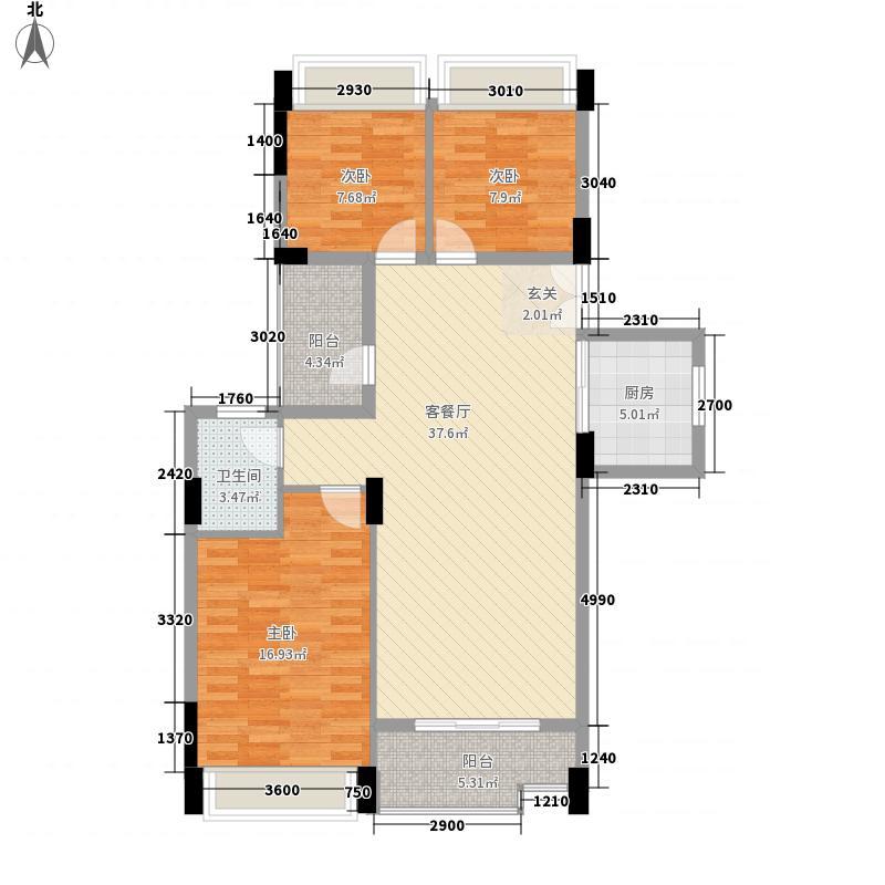 御龙城13.00㎡3+1户型3室2厅1卫1厨