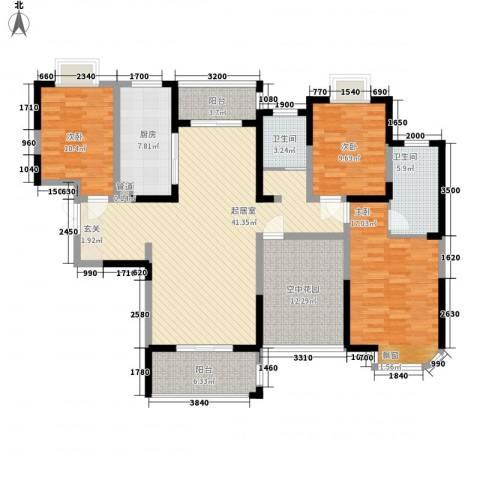 城改蜀湖湾3室0厅2卫1厨150.00㎡户型图