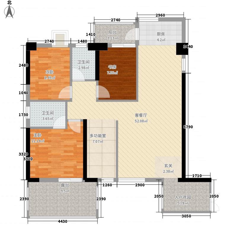 创力悦湾3室1厅2卫0厨138.00㎡户型图