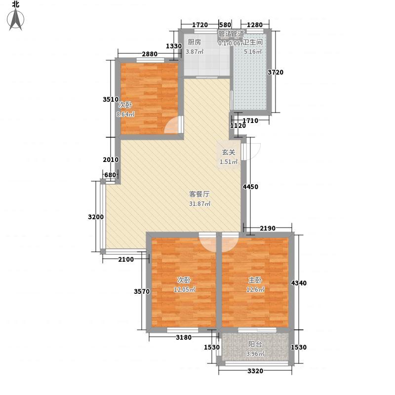 润港嘉苑112.00㎡润港嘉苑户型图E户型3室2厅1卫1厨户型3室2厅1卫1厨