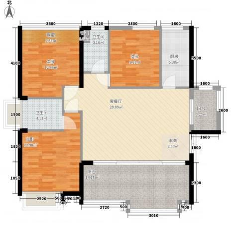 星光礼寓3室1厅2卫1厨112.00㎡户型图
