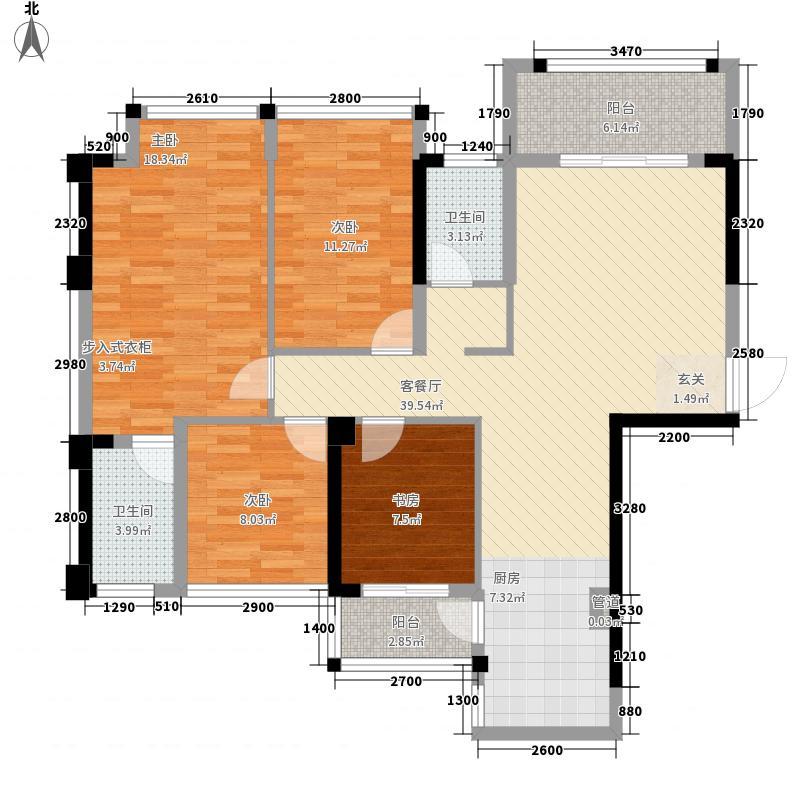 永恒朗晴4室1厅2卫0厨144.00㎡户型图