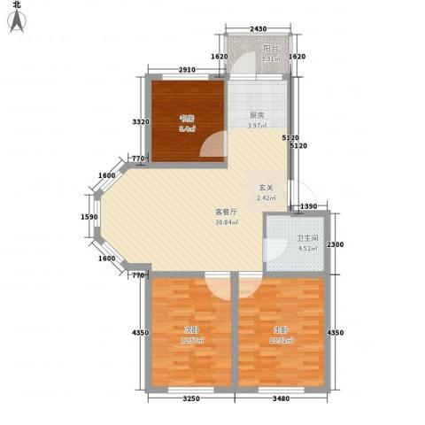 福满家园3室1厅1卫0厨102.00㎡户型图