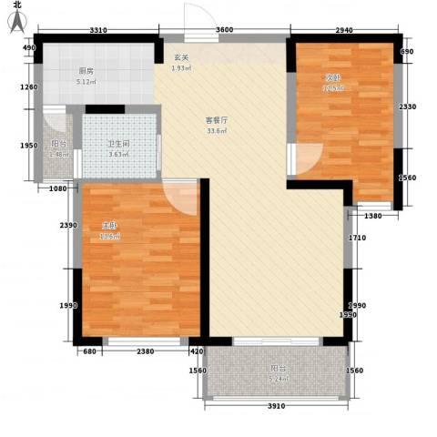 莱福花园2室1厅1卫0厨97.00㎡户型图