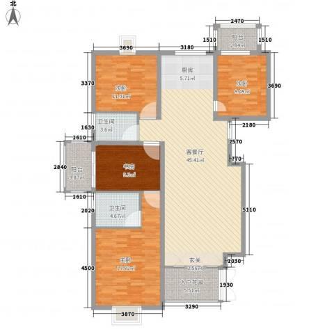 万嘉永升华庭4室1厅2卫0厨160.00㎡户型图