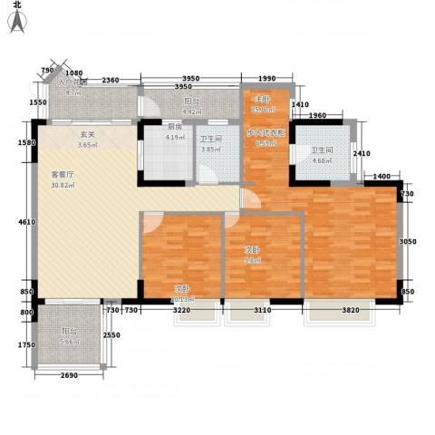 时代廊桥3室1厅2卫1厨147.00㎡户型图