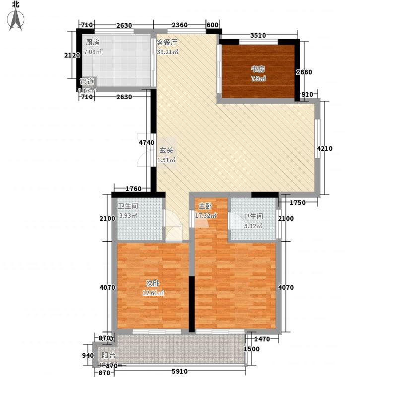 银马公寓121.29㎡银马公寓户型图A户型3室2厅2卫1厨户型3室2厅2卫1厨