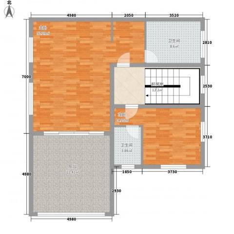 华南碧桂园翠湖居2室0厅2卫0厨138.00㎡户型图