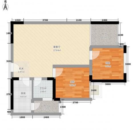 欣家园2室1厅1卫1厨82.00㎡户型图