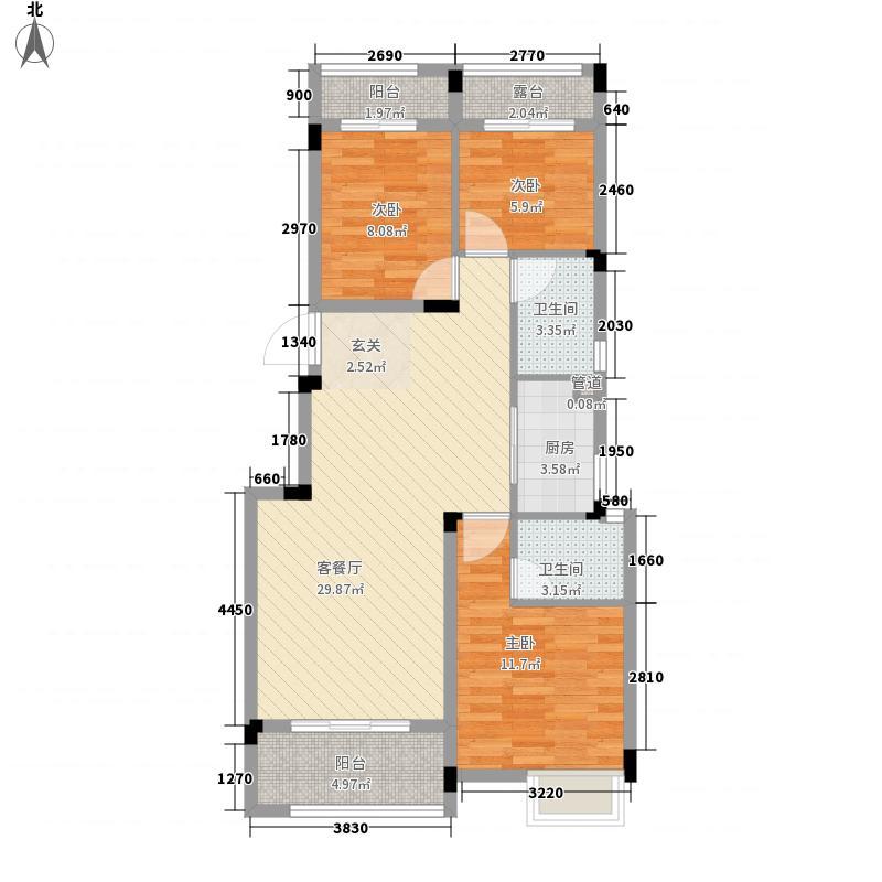 大唐东汇B户型3室2厅2卫