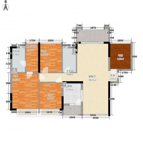 合正上东国际三期4室1厅2卫1厨115.00㎡户型图