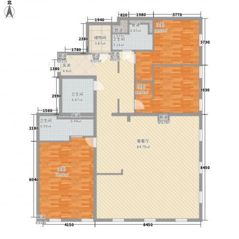 万国城moma3室1厅3卫0厨235.00㎡户型图