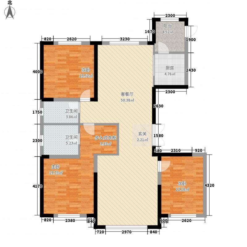 吉大文昌路55�院3室1厅2卫1厨157.00㎡户型图