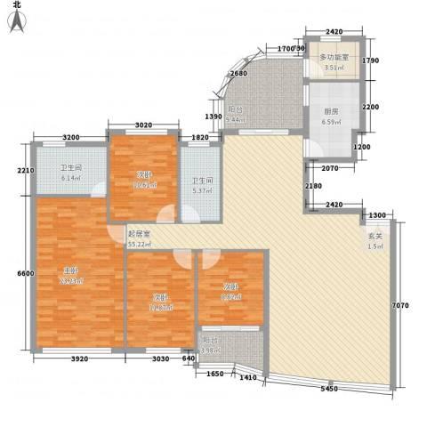 国贸阳光三期4室0厅2卫1厨200.00㎡户型图