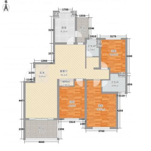 南通运杰龙馨园3室1厅2卫1厨112.03㎡户型图