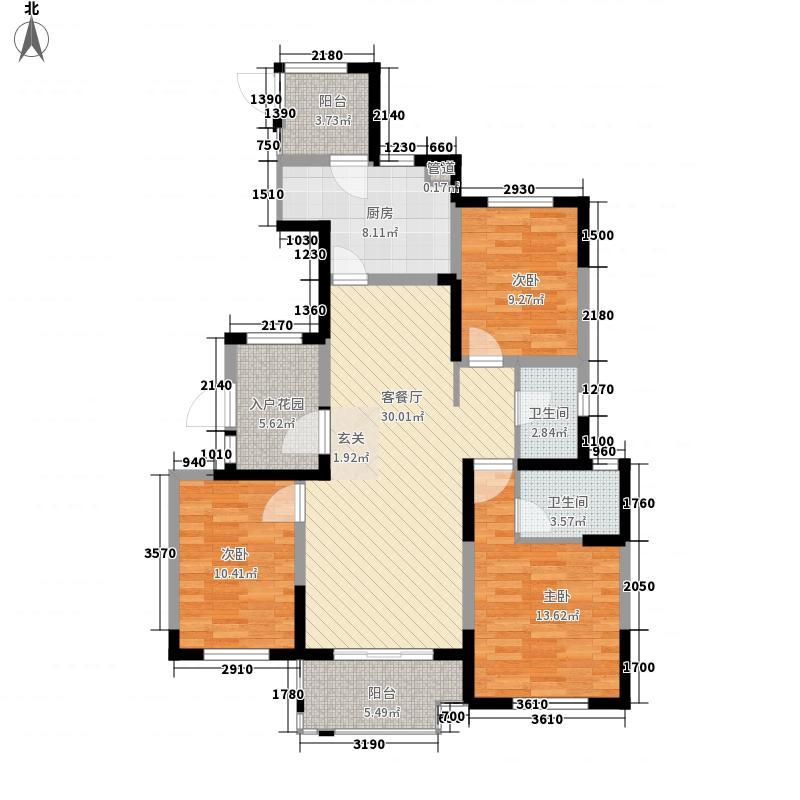 金辉・梁溪原筑134.00㎡户型3室2厅2卫1厨