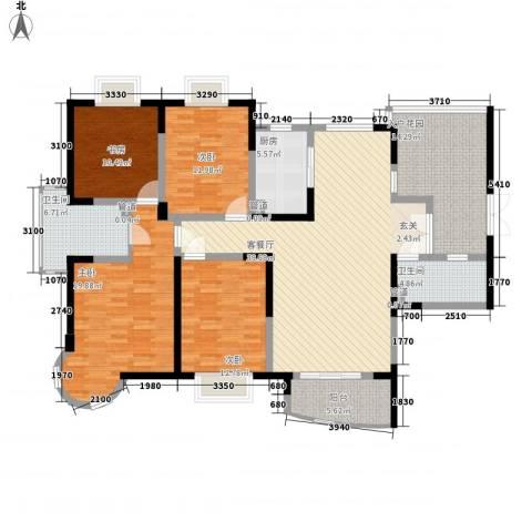 昌北供电局宿舍4室1厅2卫1厨189.00㎡户型图