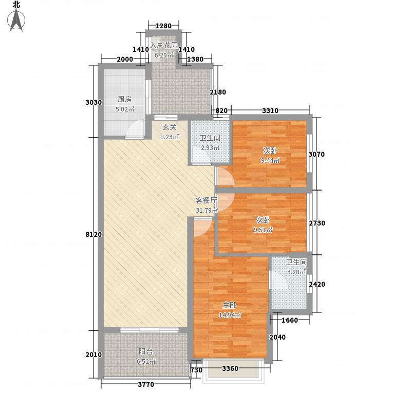 彼岸3室1厅2卫1厨127.00㎡户型图