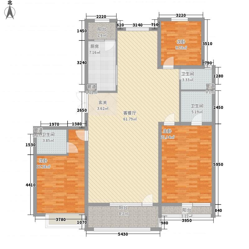 御景・新世界11.00㎡B户型3室2厅2卫