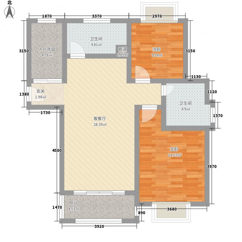 朗地英郡2室1厅2卫0厨102.00㎡户型图