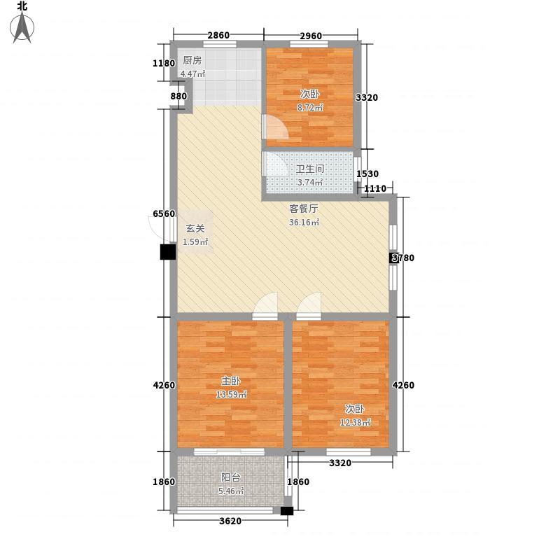 港湾明珠二期23#楼G371户型