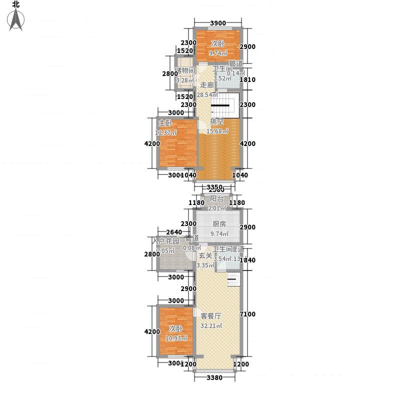 富丽阳光77.80㎡富丽阳光户型图3室2厅2卫户型10室