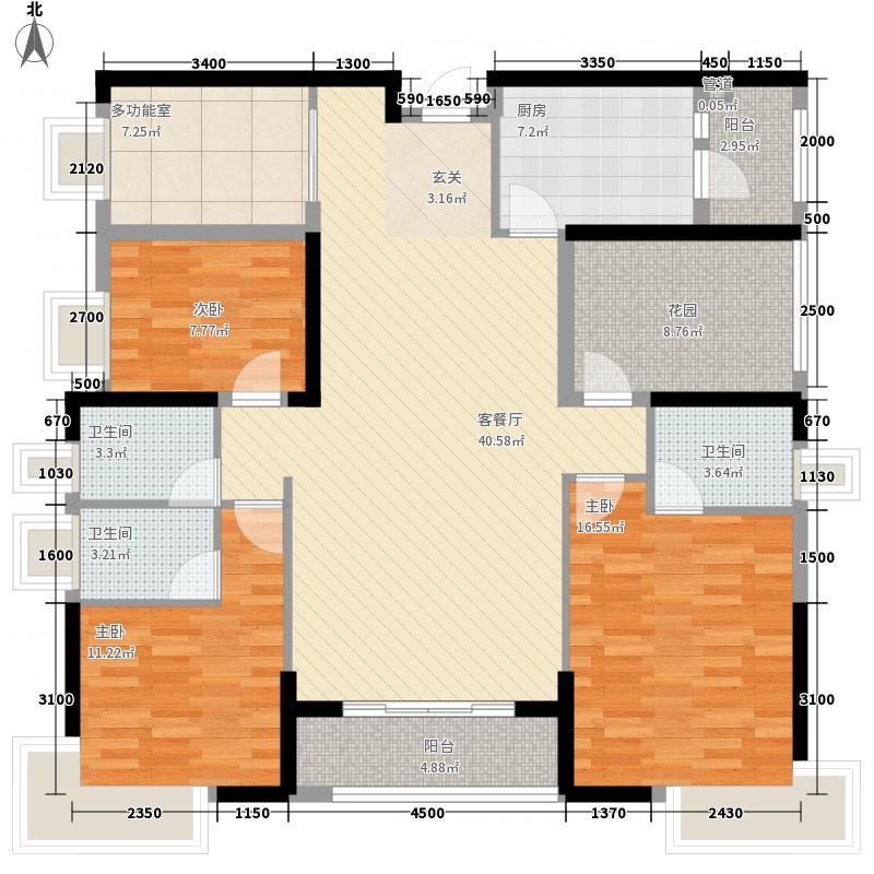 凤岗三正瑞士半山3室1厅3卫1厨167.00㎡户型图