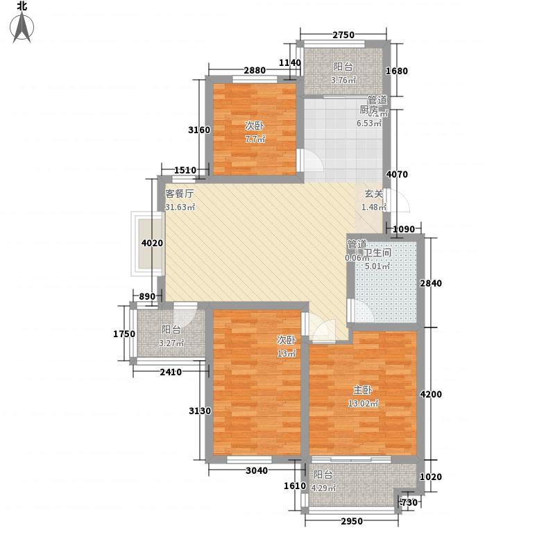 金裕花园3室1厅1卫0厨118.00㎡户型图