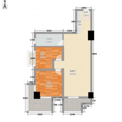 冠亚广场2室1厅1卫0厨94.00㎡户型图