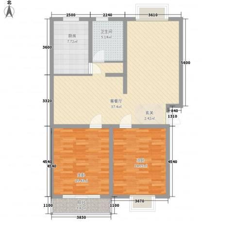 新世纪安居苑2室1厅1卫1厨119.00㎡户型图