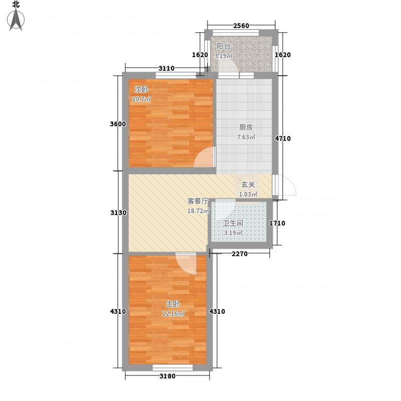 常青家园45.09㎡常青家园户型图二期二室户型2室1厅1卫1厨户型2室1厅1卫1厨