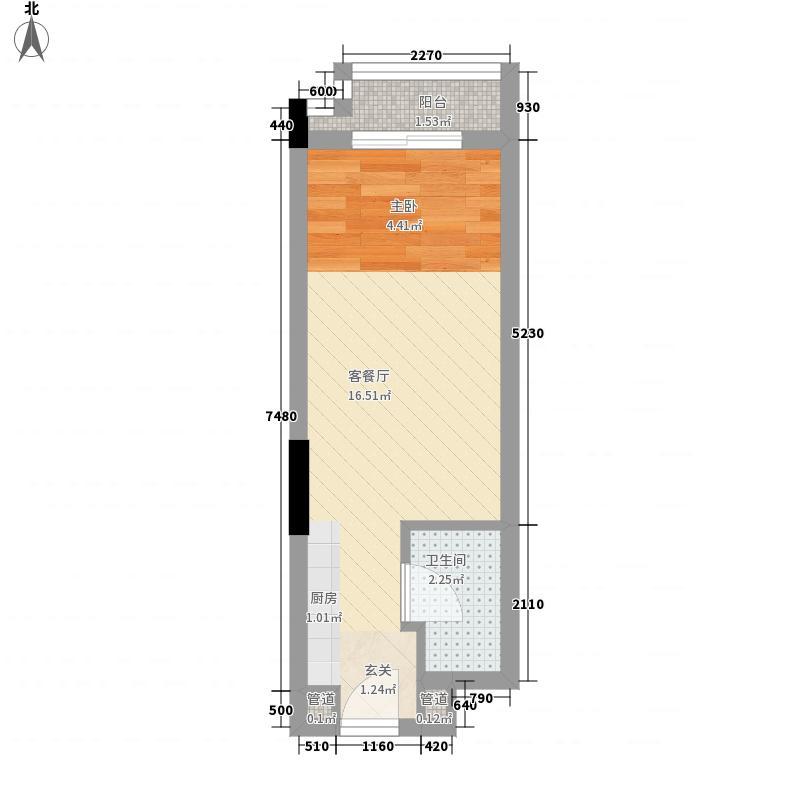 越秀・岭南隽庭0室1厅1卫0厨31.00㎡户型图